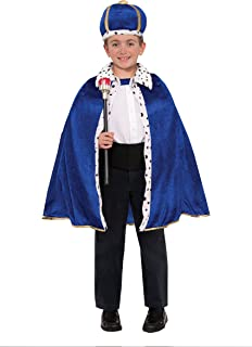 Forum Novelties 78431 King Robe & Crown Set Costume, Toddler, Blue, Pack of 1