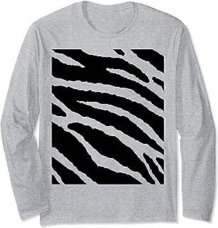 Tiger Stripes Animal Halloween Costume DIY Tiger Belly Long Sleeve T-Shirt
