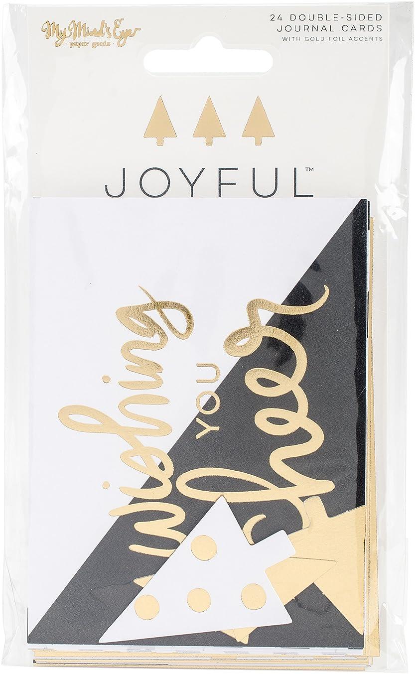 Joyful Double-Sided Journal Cards 24/Pkg-3