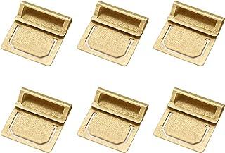 EKLOEN Retro Brass Bookmark, Mini Index Clamp Label Clip, Paper Clips Stationery Gift(6pcs)