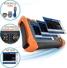 SPEEDWOLF 1310/1550nm 32/30dB OTDR 5.6inch Touch Screen 120KM(74.5mi) FTTH Fiber Optic Cable Tester with Visual Fault Locator(VFL) and SC/FC-LC Adapter