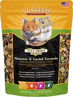 Sunseed 36043 Vita Prima Sunscription Hamster & Gerbil Food - High-Variety Formula, 2 LBS