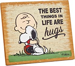 Hallmark Peanuts The Best Things are Hugs Wood Quote Sign Plaques & Signs Movies & TV