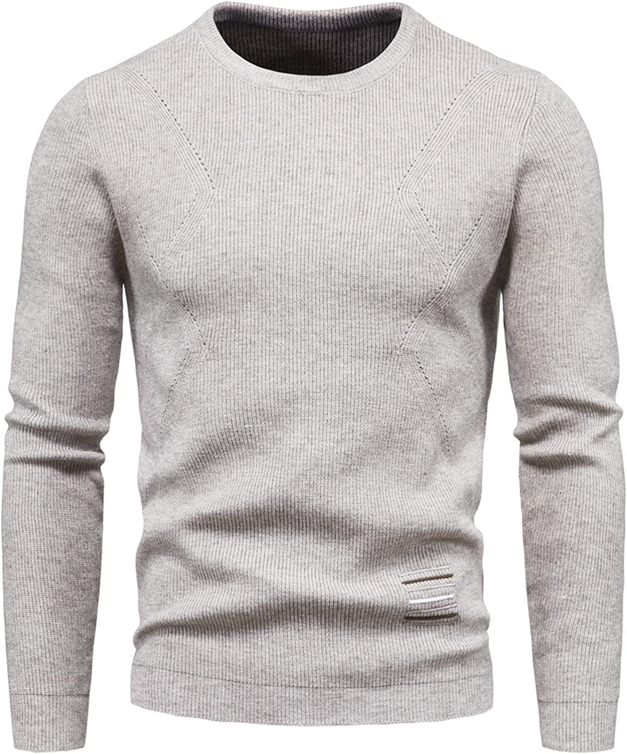 Mens Knitted Jumper,Crew Neck Sweater Basic Knit Pullover,Autumn Turtle Long Sleeve Winter Knitwear
