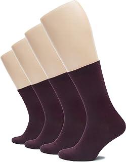 Solid Color Women's Cotton Dress Socks Crew Business Casual, Shoe Size: 6-9/9-12