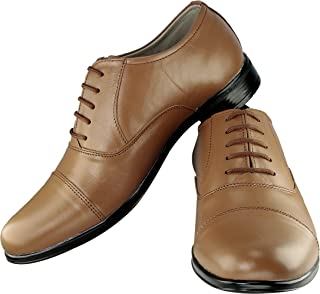 Tapps Men's Genuine Leather Formal Shoes Lace Up