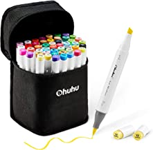 48 Colors Alcohol Brush Markers, Ohuhu Double Tipped (Brush & Chisel) Sketch Markers..