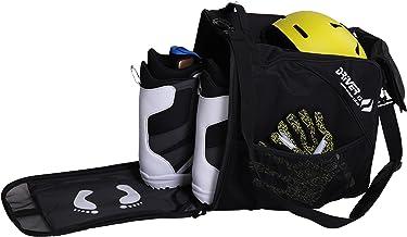Driver13 ® Skischoenentas Skischoenentas met Helmvak voor Hart Softboots Inliner en Laarzentas Zwart