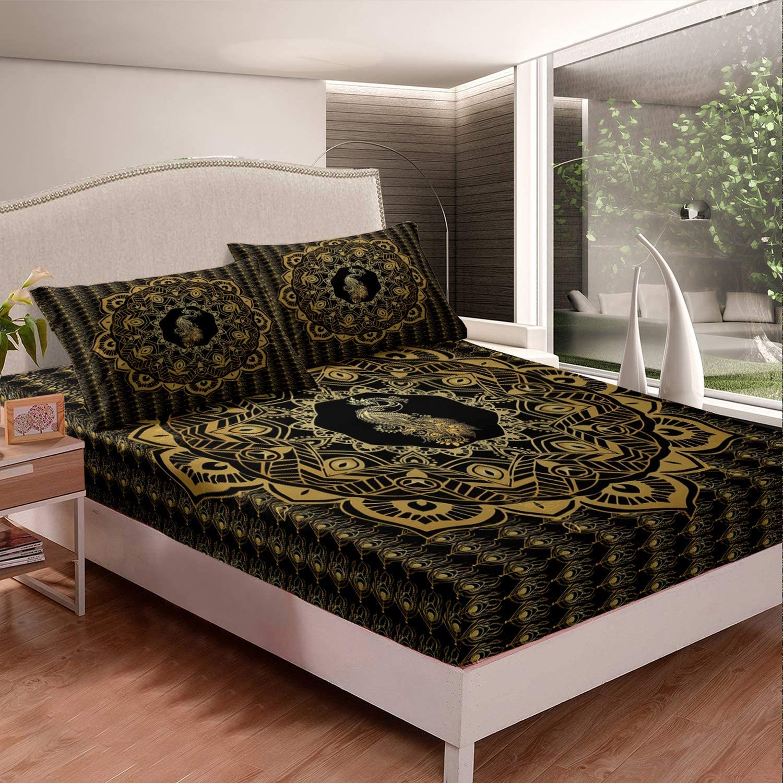 Feelyou Boho Mandala Bedding Set Kids for Bohemian Woman Adults 贈答品 定番