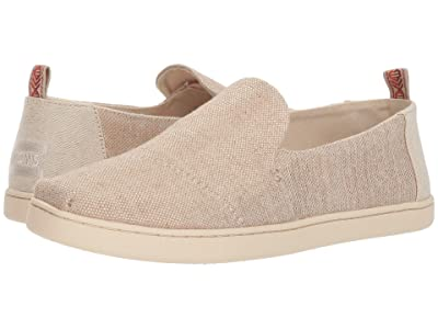 TOMS Deconstructed Alpargata (Rose Gold Metallic Woven) Women