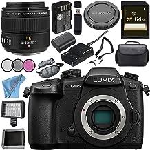 Panasonic Lumix DC-GH5 (DC-GH5KBODY) Mirrorless Micro Four Thirds Digital Camera + Panasonic Leica DG Macro-Elmarit 45mm f/2.8 ASPH. MEGA O.I.S. Lens Bundle