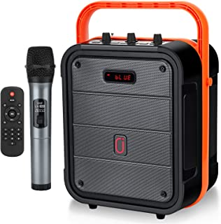 JYX Portable Karaoke Machine Bluetooth Speaker with Wireless Microphone, Pairing with TWS, FM Radio, Recording, Support US...