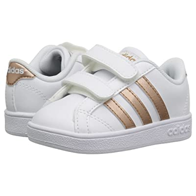 adidas Kids Baseline CMF (Infant/Toddler) (Footwear White/Copper Metallic/Core Black) Kids Shoes
