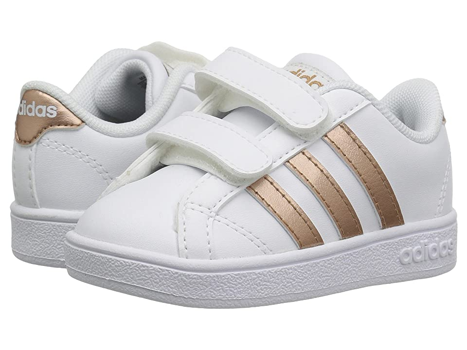 adidas Kids Baseline CMF (Infant/Toddler) (Footwear White/Copper Metallic/Core Black) Kids Shoes