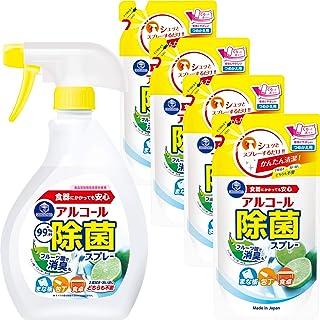 第一石鹸 アルコール除菌スプレー 本体+替え×4個(400ml+385ml×4)