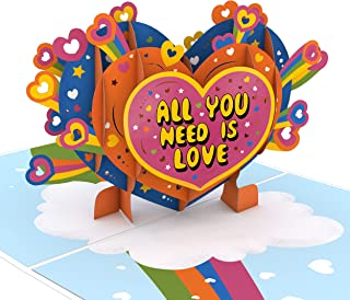 Lovepop Beatles All You Need is Love Pop Up Card