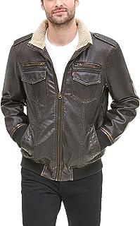 Levi's Men's Faux Leather Sherpa Aviator Bomber Jacket