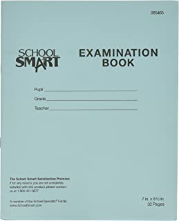 School Smart Examination Blue Book with 32 Pages, 7 x 8-1/2 Inches, Pack of 50 Books