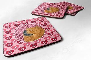 "Caroline's Treasures SS4502FC Chow Chow Foam Coasters (Set of 4), 3.5"" H x 3.5"" W, Multicolor"