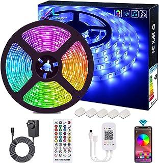 Bluetooth LED Strip Lights, ALED LIGHT 5050 16.4 ft/5 Meter 150 LED Stripes Lights Smart-Phone Controlled Waterproof RGB L...