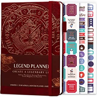 $24 » Sponsored Ad - Legend Planner – Deluxe Weekly & Monthly Life Planner to Hit Your Goals & Live Happier. Organizer Notebook ...