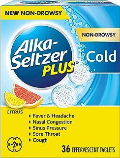Alka-Seltzer Plus Alka-seltzer plus Non-drowsy Cold Citrus 36 Count effervescent Tablets, Citrus, 36 Count