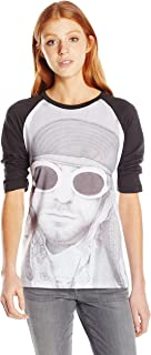 FEA Women's Cobain Kurt in Sun Glasses Juniors Raglan Top