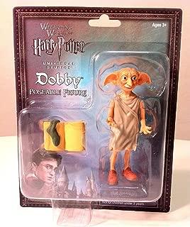 Wizarding World of Harry Potter Dobby Elf Poseable Action Figure 3 Pc. Set
