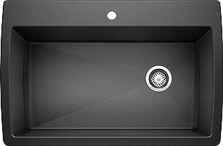 BLANCO 440194 Diamond Super Single Silgranit Drop-in or Undermount Kitchen Sink, 32.5