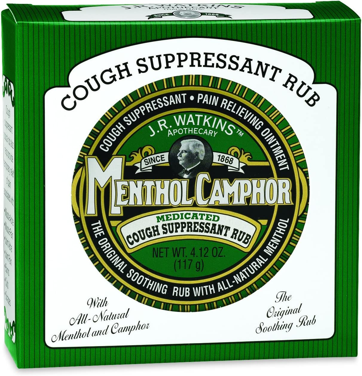 J.R. Watkins Menthol Camphor 4.12 Spring new work one after another Ounce Ointment Direct stock discount