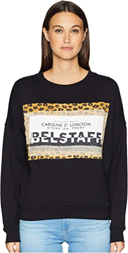 Alness Leopard Graphic Long Sleeve Crew Sweater