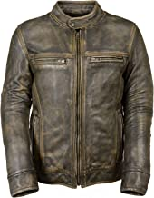 Milwaukee Leather Big Mens Distressed Brown Motorcycle Jacket-Vents