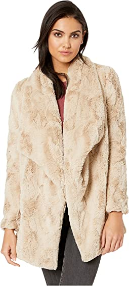 Warm Thoughts Soft Wubby Drape Front Jacket