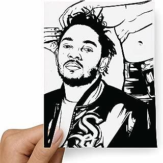 Kendrick Lamar hair (rolling stone) Postcard