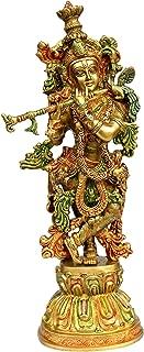 eSplanade - Brass Krishna - Big Size - Brass Kishan Krishna Murti Idol Statue Sculpture (21