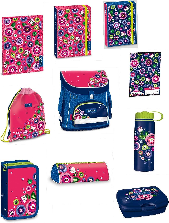 11 Parts Butterfly School Bag Set Lunch Box + Bottle + Pencil Holder + Pencil Case + Stickers + Gym Bag 2016