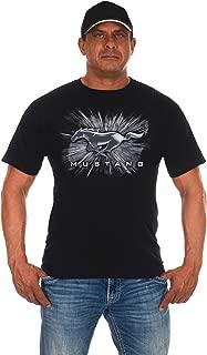 JH DESIGN GROUP Men's Ford Mustang Short Sleeve Crew Neck T-Shirt Silver Burst Design