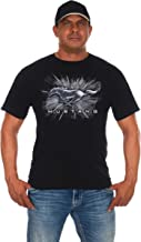 JH DESIGN GROUP Men's Ford Mustang Short Sleeve Crew Neck T-Shirt Silver Burst Design