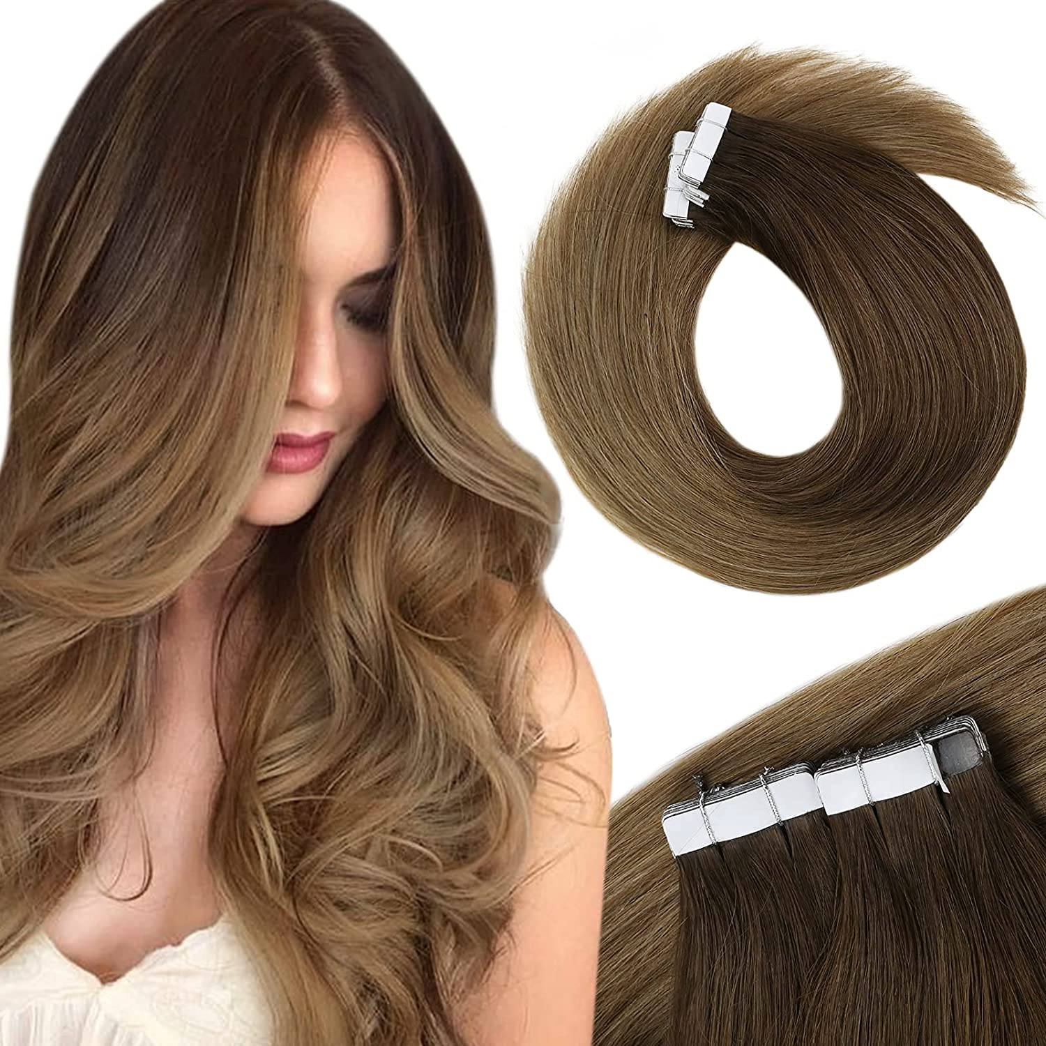 Tape in Hair Regular store Extensions Ranking TOP11 Brown Ta Balayage 22inch