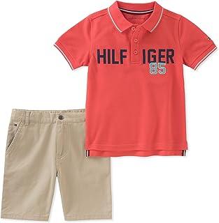 TOMMY HILFIGER Baby-Boys 2 Pieces Polo Shorts Set Shorts Set