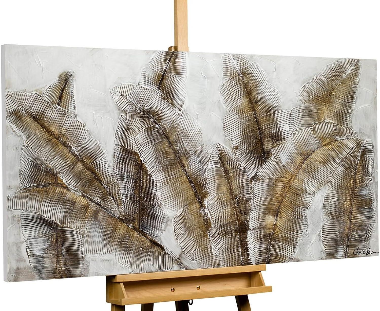 KunstLoft® Acryl Gemälde \'Iced Feathers\' 140x70cm original ...