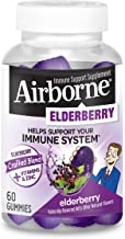 Elderberry 300mg (per serving) + Vitamin C & Zinc - Airborne Gummies (60 Count in a Bottle), Gluten-Free Immune Support Su...