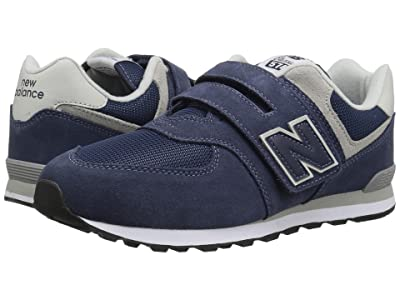New Balance Kids YV574v1 (Little Kid/Big Kid) (Navy/Grey) Boys Shoes