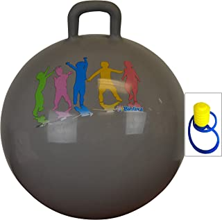 Hippity Hop 55cm Including Free Foot Pump, for Children Ages 7 & Up, Space Hopper, Hop Ball Bouncer