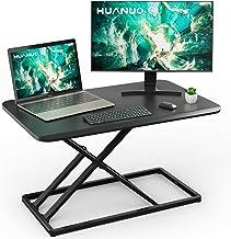 Standing Desk Converter Height Adjustable Sit to Stand Desktop Desk Gas Spring Riser, Perfect Workstation 28.5 inches for ...