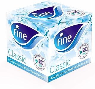 Fine Sterilized Facial Tissues, Classic Cubic, 100 x 2 Ply