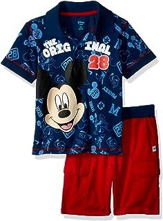Disney Baby Boys Mickey Polo 2 Piece Short Set