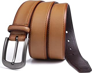 Genuine Leather Belt Men Black Dress Belt Brown Casual Belt with 1.5 Wide Real Leather Classy Comfy Casual