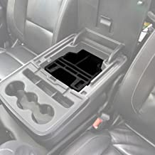 Red Hound Auto Center Console Organizer 3 Piece Set Vehicle Inserts Compatible with Chevy Chevrolet GMC Silverado Sierra 1500 2500 2015 2016 2017 2018 Black Made in USA Fold Down Console Only