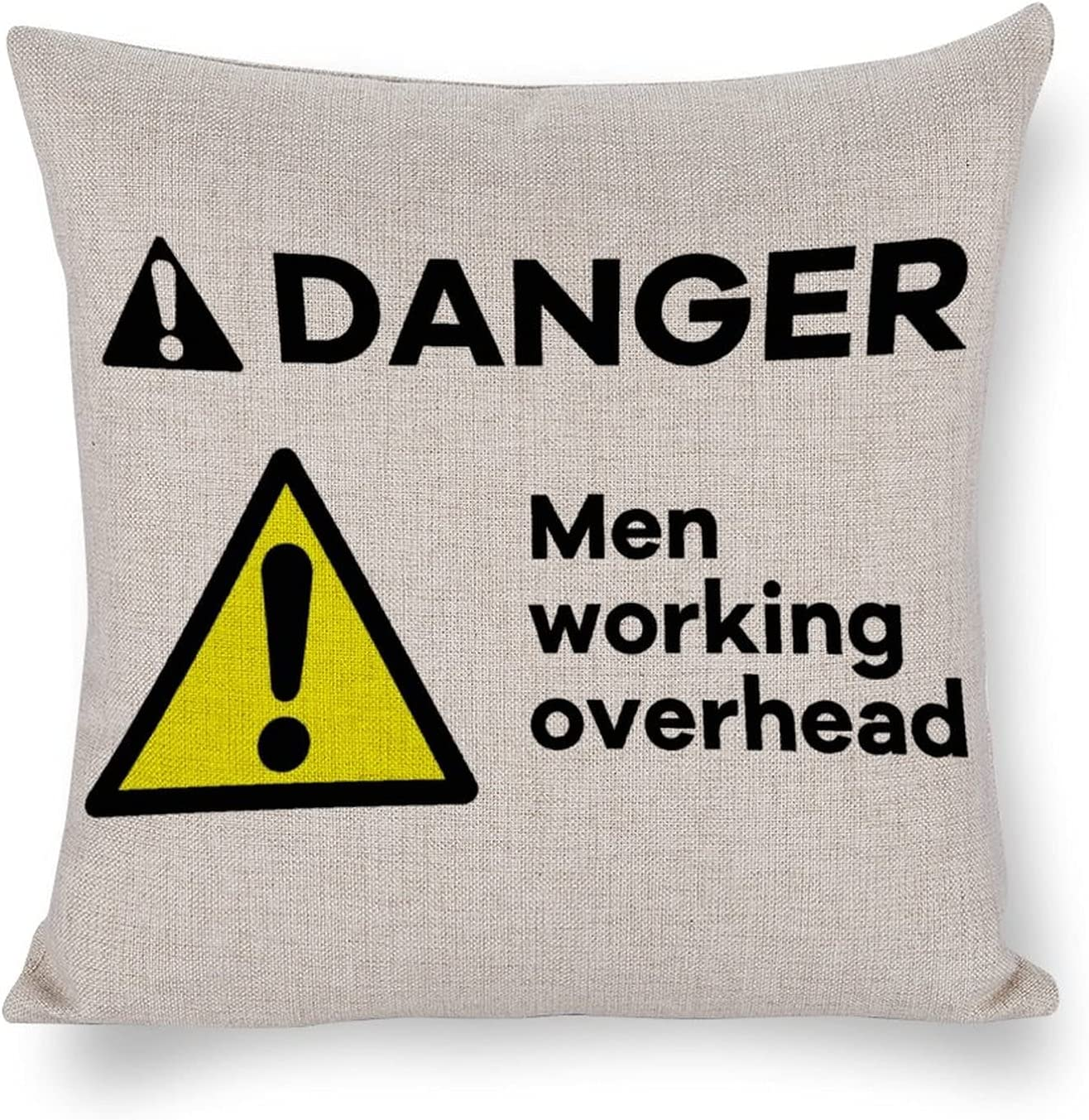 Super sale period limited UTF4C Men Working Outlet ☆ Free Shipping Overhead Danger Cotton Linen Cushion Home Sofa